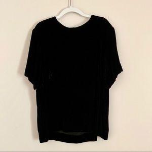 COS black velvet top size 4